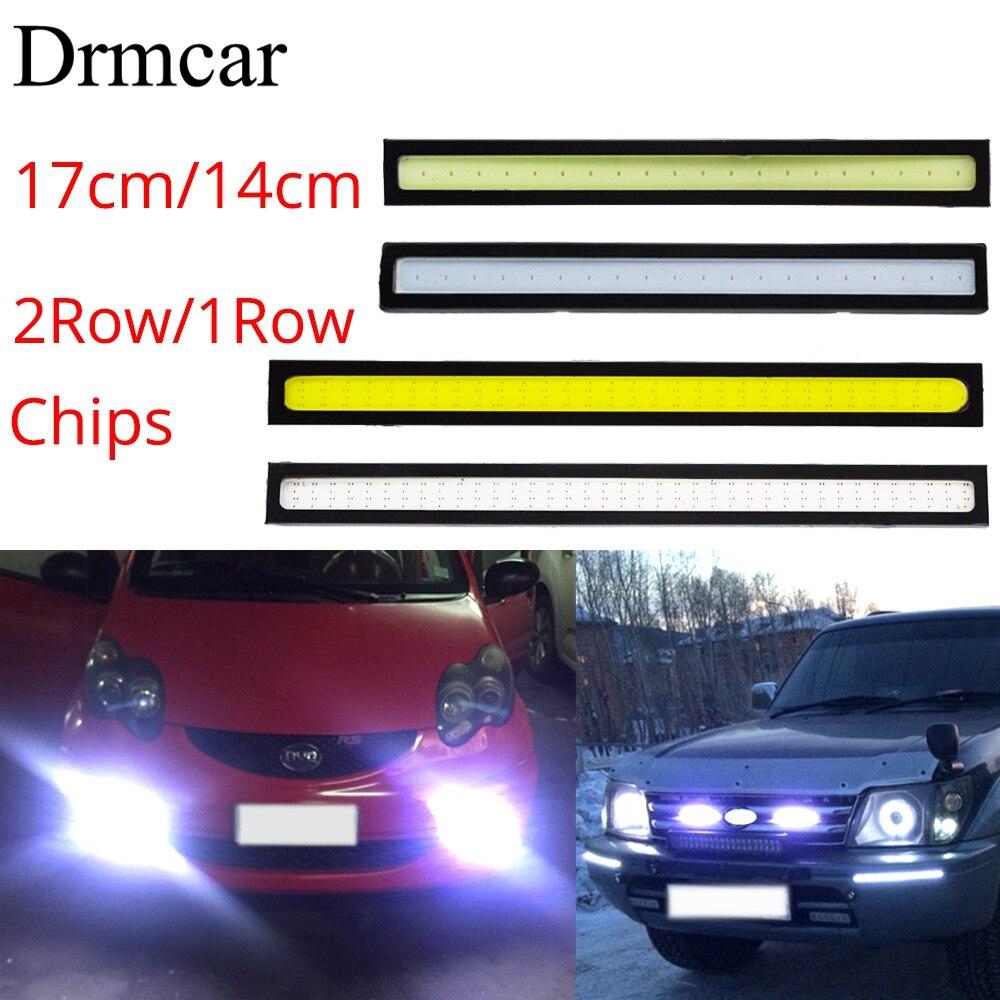4X COB Green LED Car Fog DRL Daytime Running Light Bar Strip 12V 17cm Waterproof