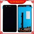 Черный Полный ЖК-Дисплей Для ZTE Blade A510 BA510 BA510C TD-LTE С Сенсорным Экраном Дигитайзер Ассамблеи Замена С Отслеживая