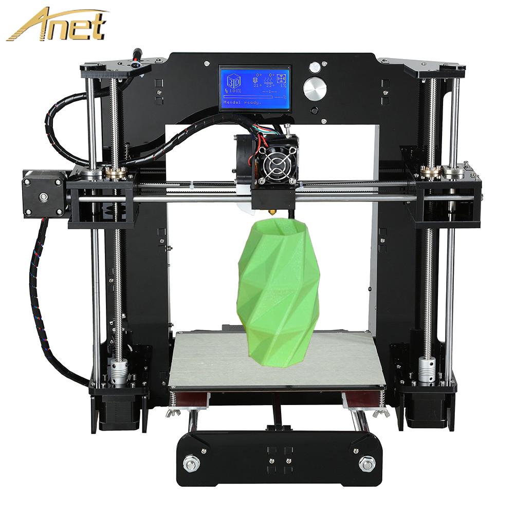 2016 Latest Upgradest Anet A6 Print Size220 220 250mm3D Printer Kit Reprap Prusa i3 DIY 3Rolls