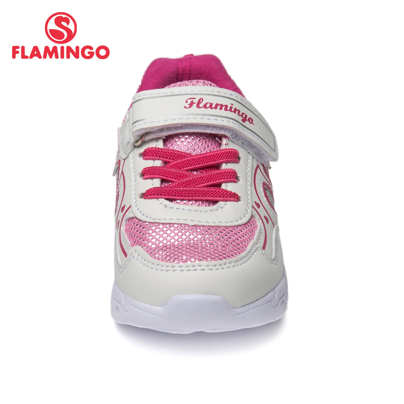 QWEST Brand LED Leather Insoles Breathable Arch Children Sport Shoes Hook& Loop Size 23 29 Kids Sneaker for Girl 91K KS 1232 - 4