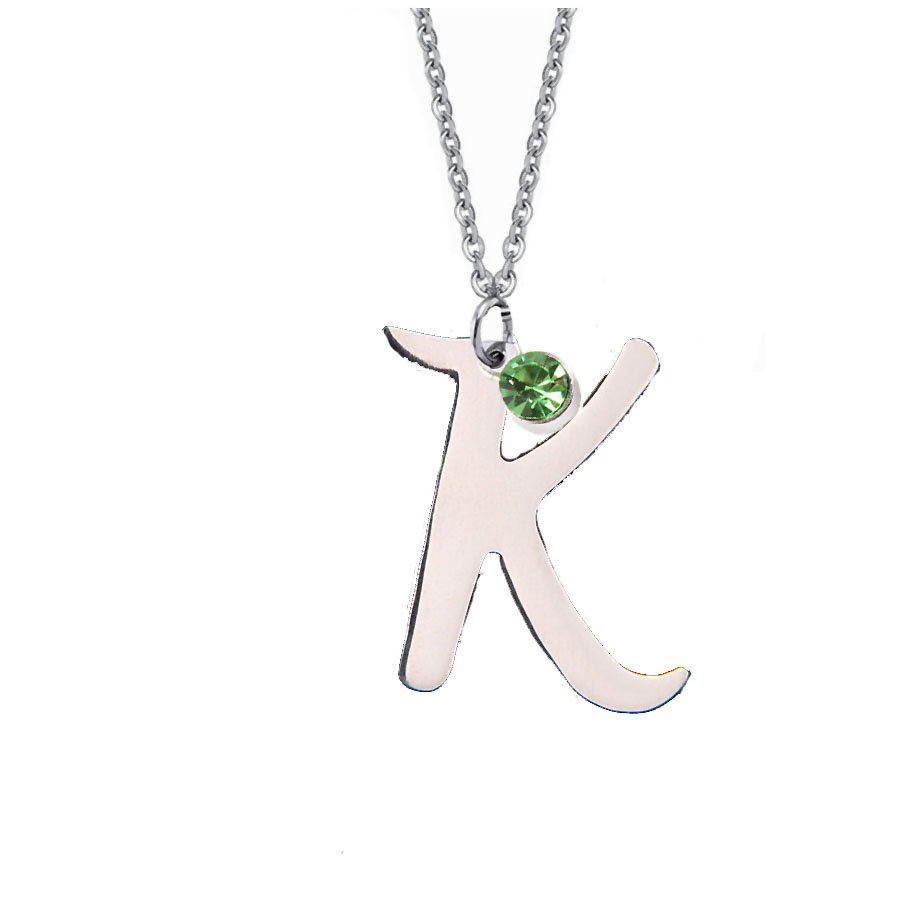 get cheap birthstone initial necklace aliexpress