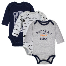 Cotton Baby Bodysuits Boys jumpsuit 3 pieces