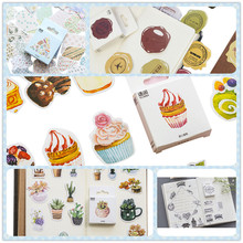 50pcs/pack Boxed Stickers DIY Diary Decoration Scrapbooking Stickers Label Greeting Card Making Album Sticker 5 Style Can Choose diy stickers travel note kawaii stickers for diary scrapbooking notebook greeting card decoration