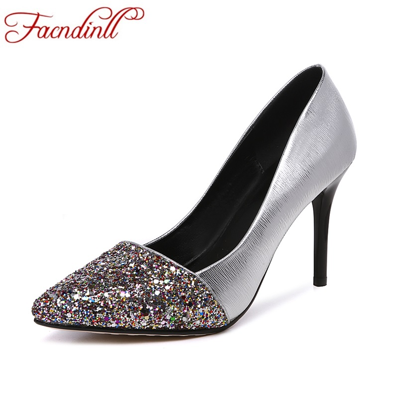 ФОТО high quality pumps women new 2017 spring summer high thin heels pointed toe shoes woman pumps slip on offlce lady party shoes