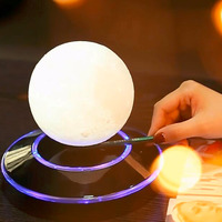 12cm Magnetic 3D Levitation Moon Lamp Floating Night Light Romantic Wedding Birthday Festival Gift Home Decor