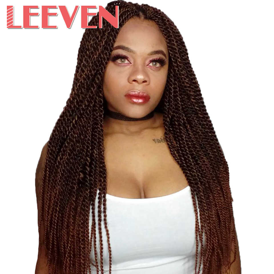 Leeven 14 18 22inch 30strands Senegalese Twist  Ombre Braiding synthetic Hair Extension crochet Braids High Temperature Fiber