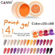 #50618 2017 CANNI nail art tips design professional nail cosmetic manicure 141 colors uv led soak off paint nails lacquer gels