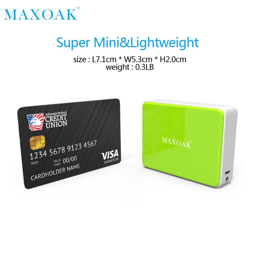 MAXOAK taşınabilir güç bankası Tek USB DC 5 V-2.1A 5200 mAh - Cep Telefonu Yedek Parça ve Aksesuarları - Fotoğraf 2