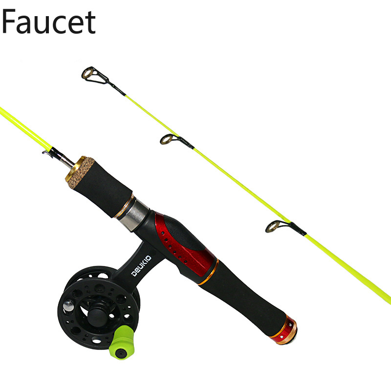 Outdoor Portable Winter Ice Fishing Rods Fishing Reels To Choose Rod Combo Fishing Rods With Reel Wheel