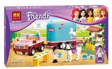 New Original Bela Girl's Friends Building Blocks 217pcs/set Emma's Sunshine Ranch Model toys Compatible with Legoe bricks P663