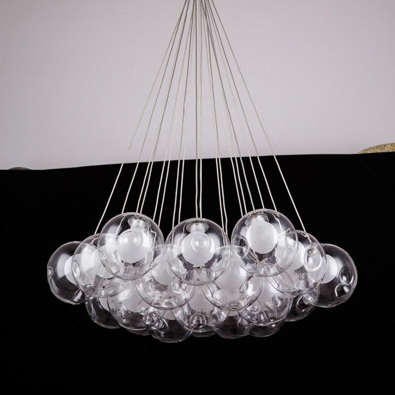 Nordic Modern LED Double-Deck Glass Ball <font><b>Pendant</b></font> Lights G4 Bulb Hall Light 12/15cm Glass Lampshade Hanging <font><b>Pendant</b></font> Lamp Fixtures