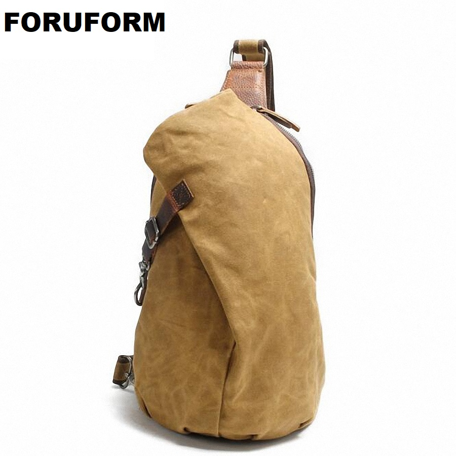 Crossbody Bag For Men Messenger Chest Bag Pack Casual Bag Waterproof Canvas Single Shoulder Strap Pack 2018 New LI-1755 2018 new casual men s canvas solid multi pockets messenger shoulder back day pack sling chest pack bag li 1882