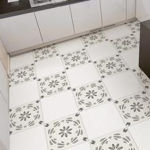4pcs/set DIY Elegant Waterproof Tiles Stickers Bathroom Kitchen Self-adhesive Wall Sticker Home Decor Art Floor Mat Wall Decals