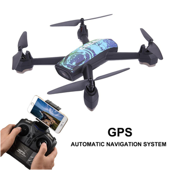 JXD 518 RC Quadcopter 720P HD Camera WIFI FPV GPS Mining Point Drone 2.4GHz 6 Axis Gyro Mini Drone 360 Rotation Headless Mode Квадрокоптер