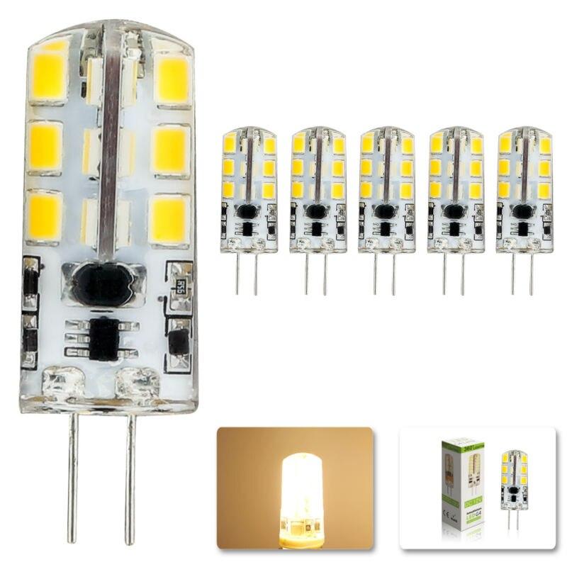 5pcs/lot 2015 new AC DC 12V g4 Led bulb Lamp SMD 2835 6W Replace 40w halogen lamp light 360 Beam Angle luz lampada led