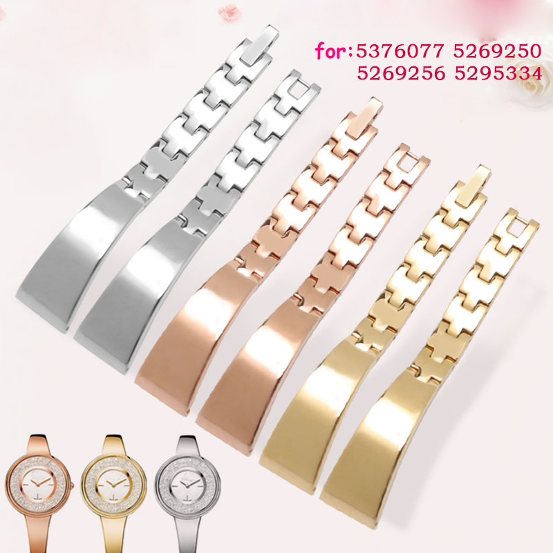Stainless steel watchband 14mm for CRYSTALLINE PURE women watch 5376077 5269250 steel bracelet