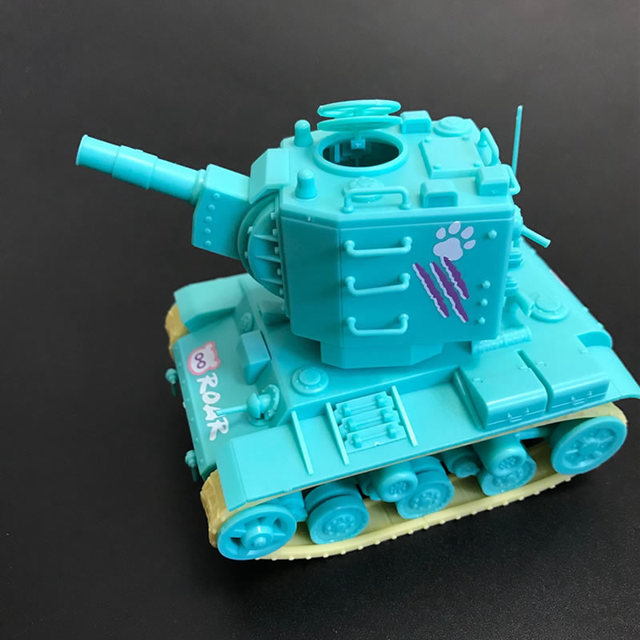 Original Meng Q Ver Soviet Union Male Tank KV2 Small bear Painting Cute Tank Toy Assembly Model Building Kits gift for boy