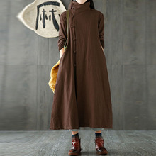 2018 ZANZEA Women Coat Autumn Vintage Turtleneck Long Sleeve Casual Cotton Linen Jacket Solid Loose Work OL Outwear Plus Size