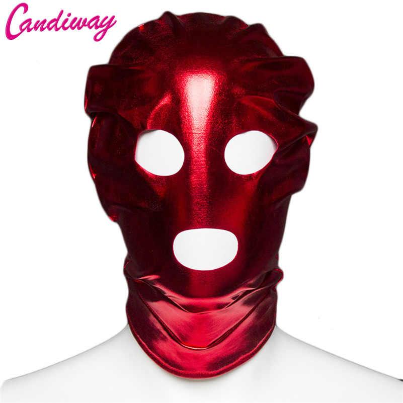 БДСМ фетиш маска сексуальные игрушки Фетиш открытый рот глаз колпак маска на голову бондаж для взрослых игр секс-игрушки для секс-игрушка для пар