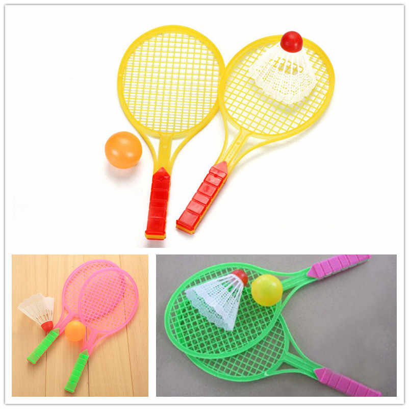Badminton Table Tennis Ball Outdoor Sports Family Game Children Boys Girls Plastic Two-in-one Dribbled Toy Rackets