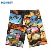 New Arrive Mens Shorts Surf Board Shorts Summer Sport Beach Homme Bermuda Short Pants Quick Dry