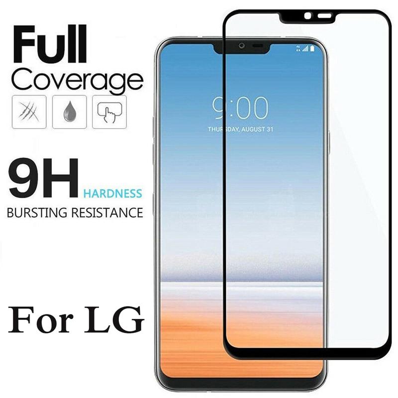 9H Protective Glass For LG V40 V50 V20 V30 K10 K8 2018 2017 G6 G8 Screen Protector For LG Q60 K50 Full Cover Tempered Glass Film