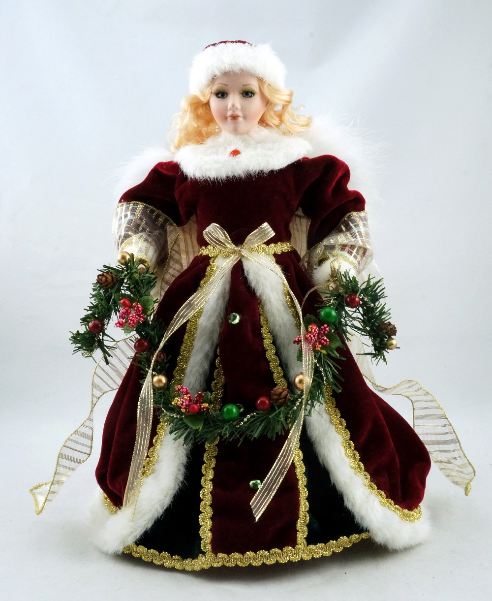 Christmas tree novelty christmas tree china http www gd wholesale com - Cosette Noble Christmas Decoration Angel Porcelain Doll Home Collection Wings Flowers Bowknot 14 China