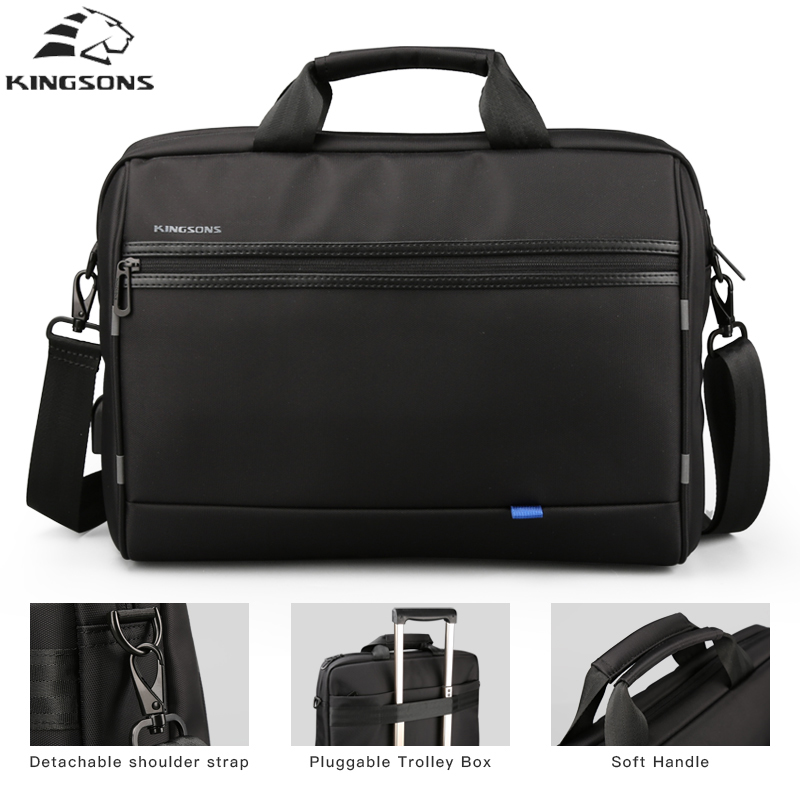 kingsons 15.6 Inch Laptop Bag Waterproof Notebook Bag for Mackbook Air Pro 13.3 15.6 Dell Asus HP Acer Laptop Shoulder Handbag