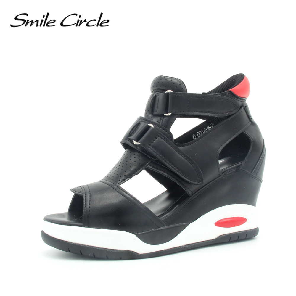Smile Circle 2018 Summer Style Sandals Women Wedges Shoes For Women Fashion Open toe platform sandals nemaone new 2017 women sandals summer style shoes woman platform sandals women casual open toe wedges sandals women shoes