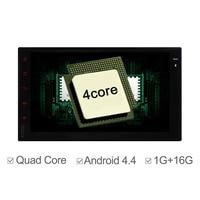 Quad Core Android4 4 Universal Car GPS 2 Din Wifi 3G Radio Stereo GPS Navi 16G