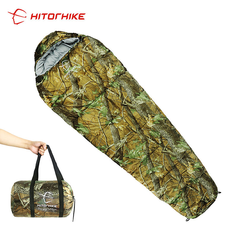 Hitorhike 80 x 190CM Outdoor Ultralight Sleeping Bag Mummy Extended Size For Camping Hiking Climbing suit