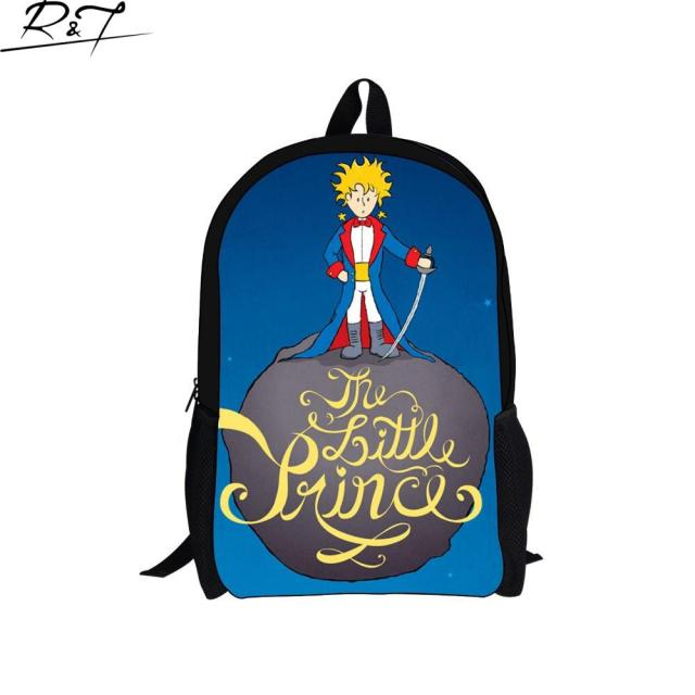Hot Sale 2016 The Little Prince Printing Children School Bags High Quality Cute Cartoon Kids Schoolbag Teenagers Bookbags