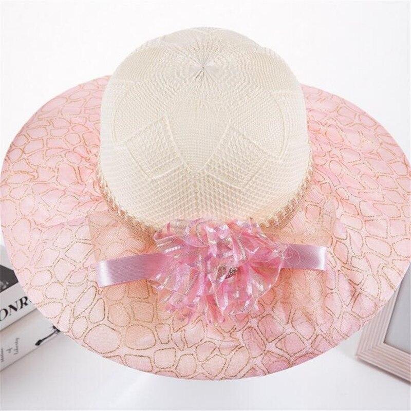2017 sombreros de verano para las mujeres de La Vendimia de Lino Playa  sombrero al aire libre sombrero de Encaje de flores Sombrero de Fedora  Feminino ... cac12cef9b5