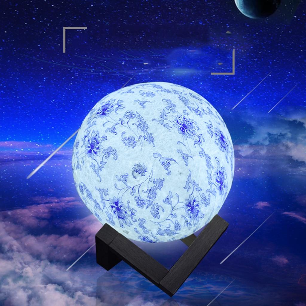 Moon Lights Bedroom: 3D Printing USB Hand Shot Lights Moon Night Light