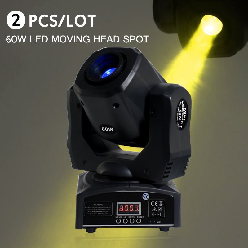 Spot 60W LED With Gobos Color Plate High Brightness Mini Moving Head Light