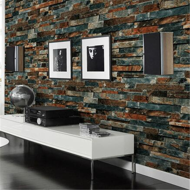 Beibehang Stereo 3d brick pattern  antique brick brick wallpaper home decoration wallpaper cultural brick 3D wallpaper for walls