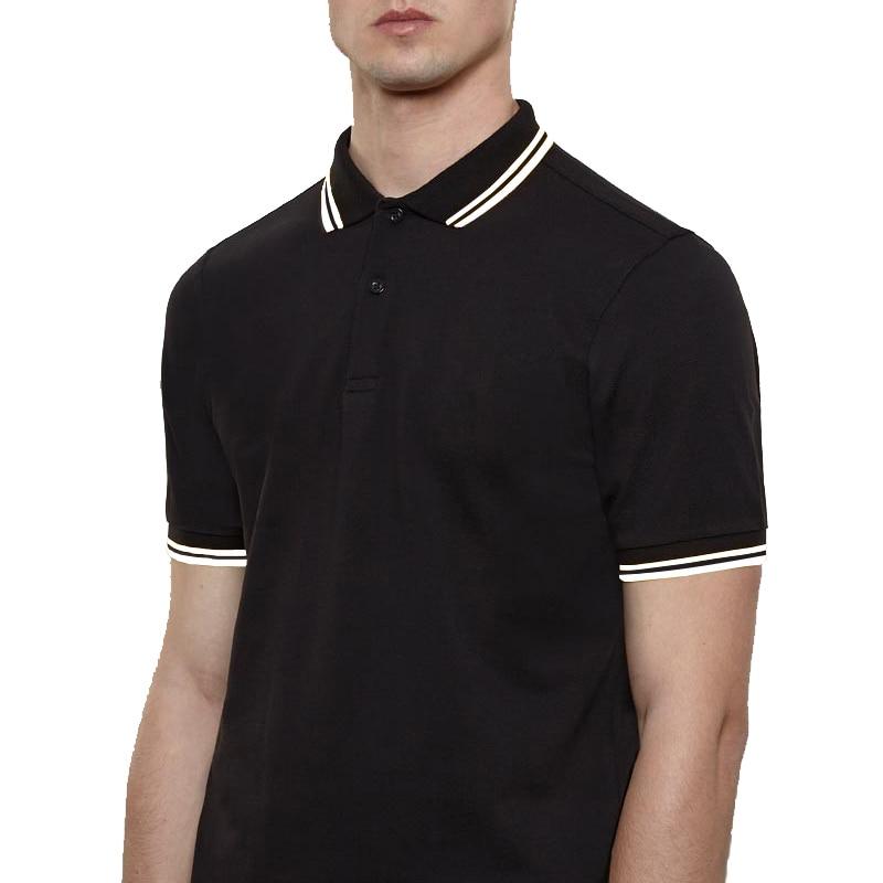 Fred Brand fashion   Polos   Shirt Perriinglys M12 M3600 UK Men Short Sleeve Simple Classic Laurel LOGO Casual lapel Male clothing