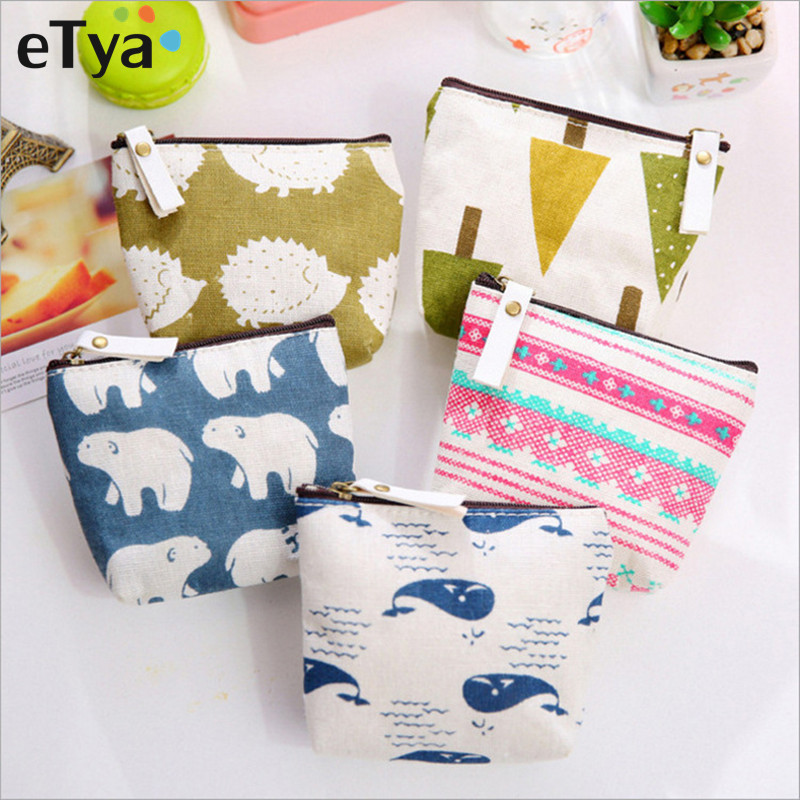 ETya Women Cute Small Zipper Coin Purse Girls Money Bag Change Pouch Female Coin Key Holder  Fashion Kids Purse Mini Wallets
