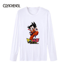 2019 New funny design printed tshirt men Dragon Ball wukong top no faded model homme Long sleeve O-neck plus size T-shirt