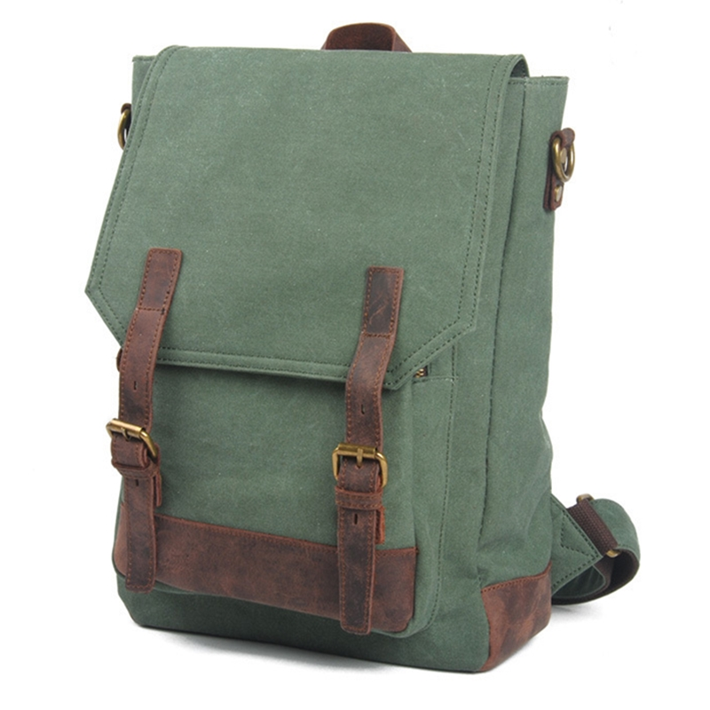 ФОТО Canvas genuine cowhide hot  Europe student America Retro fashion school book computer college laptop travel chic backpack bags