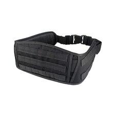 Tactical Molle Padded Patrol Belt Military Combat Battle Belt Waistband Belt for Men Waist Support Hunting Bag