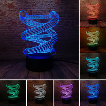 Luminaria 3D DNA Bulb LED 7 Color Gradient Illusion Night Light Table Bedroom Kid Cafe Bar Home Decor Toy Gifts Drop Shipping(China)