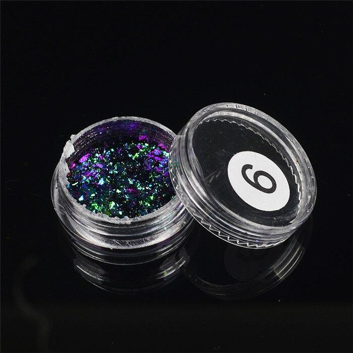ZKO,, 1 коробка, хамелеон, блестки для ногтей, голографическая пудра, пыль, ослепительные ногти, дизайн ногтей, блестящие украшения - Цвет: 06