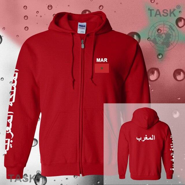 sudaderas zipper nuevo tracksuit fleece flag Naciones hombre hoodies y  casual Marruecos para streetwear sudor Polo qFwpROEOx 6ef6588929ba9