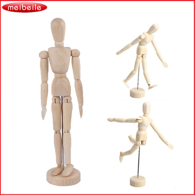 5 8 12 inch joints wood wooden mannequin toy wooden puppet