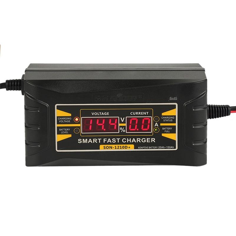 best quality full automatic smart car battery charger 12v 10a lead acid gel w lcd display us eu. Black Bedroom Furniture Sets. Home Design Ideas
