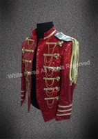Bling Bling Men Blazer Mens burgundy blazer sequin jacket Club Dresses Men Costumes Performance Jacket Man