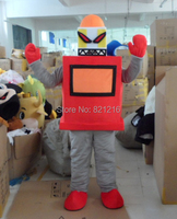 Red Robot Mascot Costume Adult Character Costume Cosplay Mascot Costume for Halloween party event