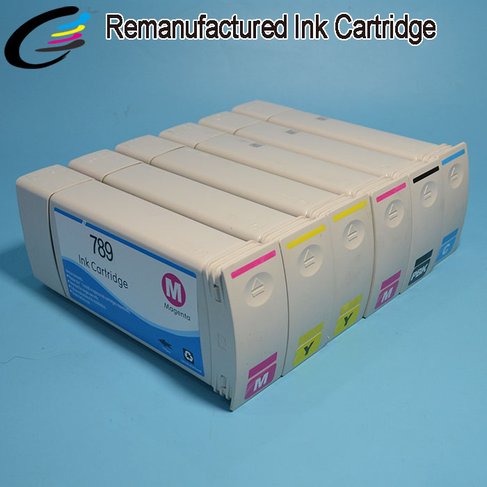 Remanufacture Ink Cartridge for hp 789 Reborn original ink cartridge for HP DesignJet L25500 with Latex Ink 6 colors high quality 789 1000ml latex ink for hp l25500 printer inkjet made in china market