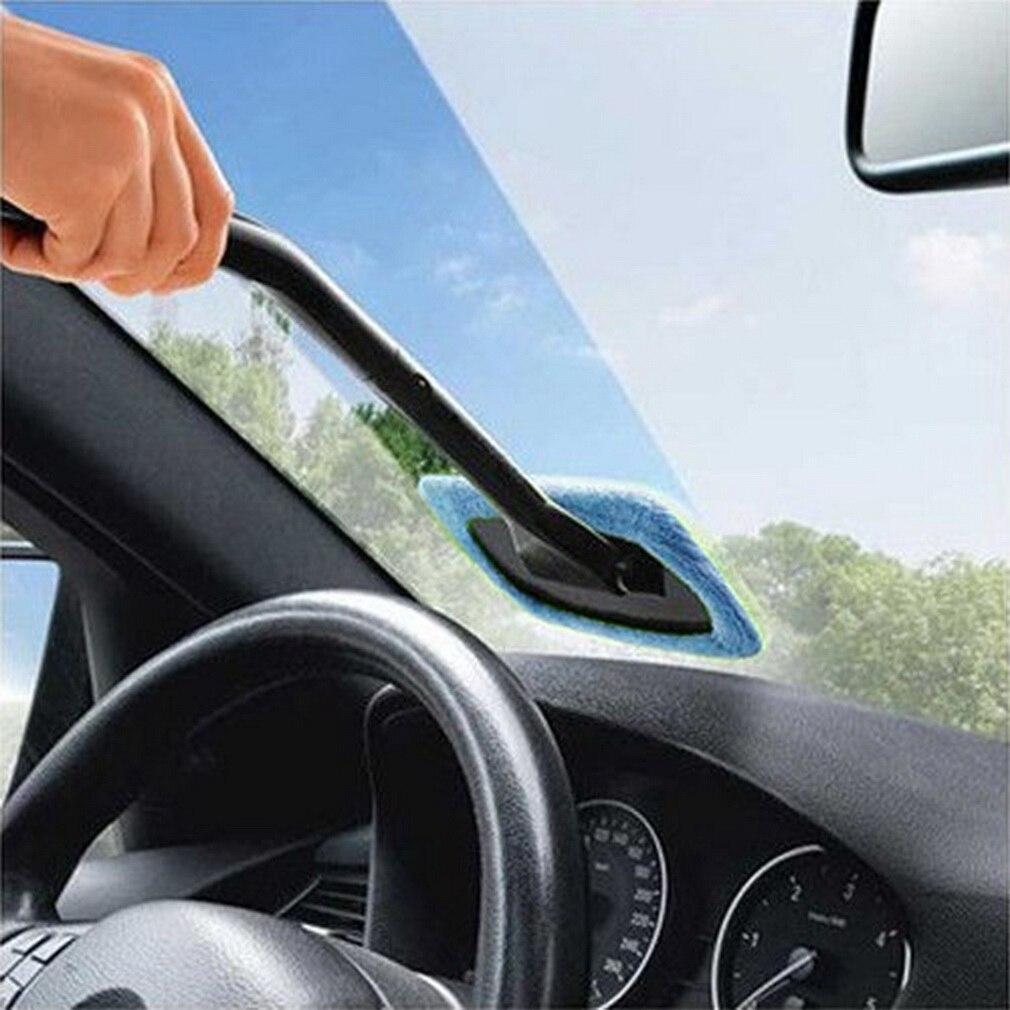 New Microfiber Auto Window Cleaner Windshield Fast Easy Shine Brush Handy Washable Cleaning Tool car wash auto vehicle window brush car windshield wiper blue white